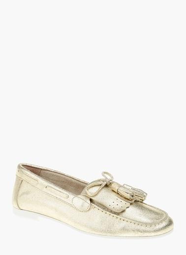 Divarese %100 Deri Loafer Ayakkabı Altın